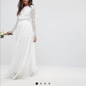 Asos lace maxi wedding dress